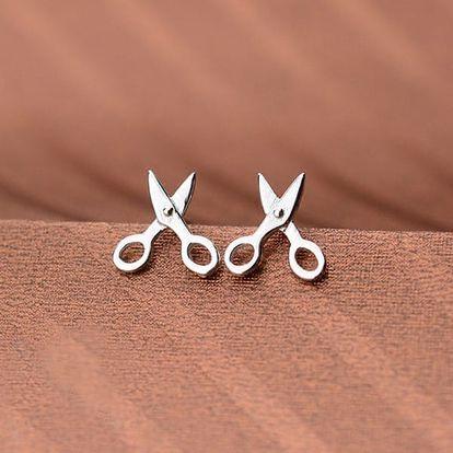 Dámské malé náušnice - Nůžky