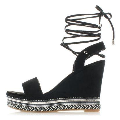 Černé platformové sandály Sidia