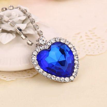 Dámský náhrdelník s přívěskem ve tvaru srdce - 2 barvy