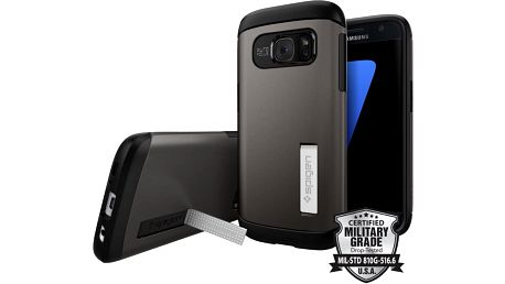 Spigen Slim Armor, gunmetal - Galaxy S7 - 555CS20012