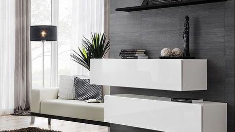 Set skříněk SWITCH SB II, bílá a černá matná/bílý a černý lesk