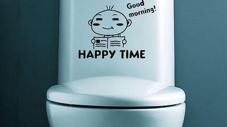 Samolepka na toaletu 19 X 26 cm - HAPPY TIME