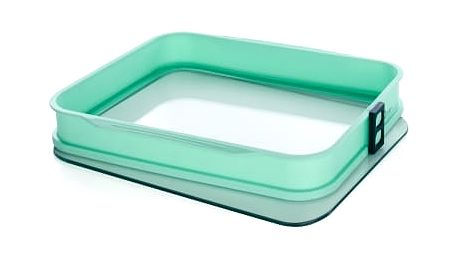 Silikónová obdelníková forma se skleněným dnem, zelená