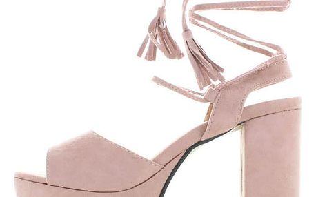 Světle růžové sandály Kamikaze