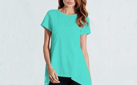 Dlouhé tričko s asymetrickým střihem - 5 barev