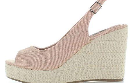 Růžovo-béžové platformové sandály Refresh 63298