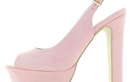 Světle růžové sandály Lufa