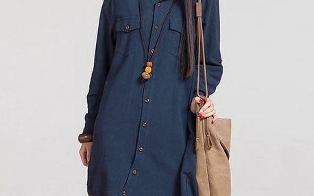Dlouhá dámská košile - 3 barvy