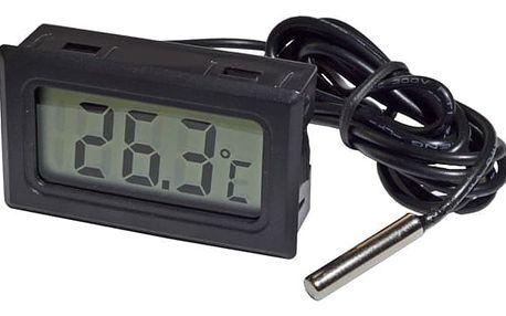 Teploměr s LCD displejem vybavený venkovním senzorem - dodání do 2 dnů