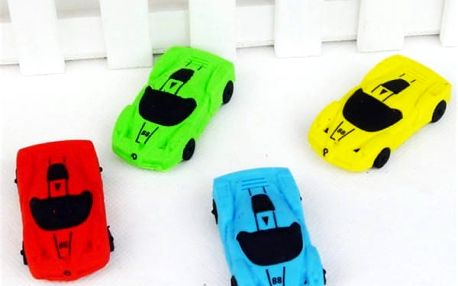 Kancelářská guma ve tvaru sportovního automobilu - 3 ks