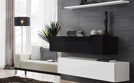 Set skříněk SWITCH SB II, černá a bílá matná/černý a bílý lesk