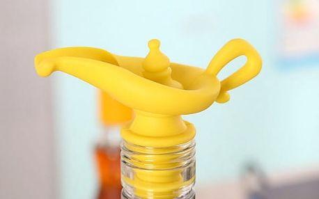 Silikonová nálevka na lahev v nápaditém provedení