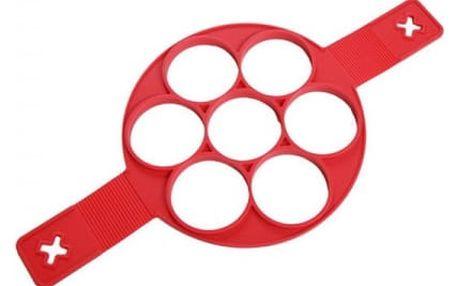 Silikonový lívanečník - červená barva