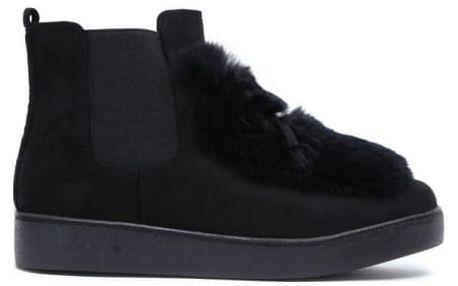 Dámské černé kotníkové boty Chantelle 7109