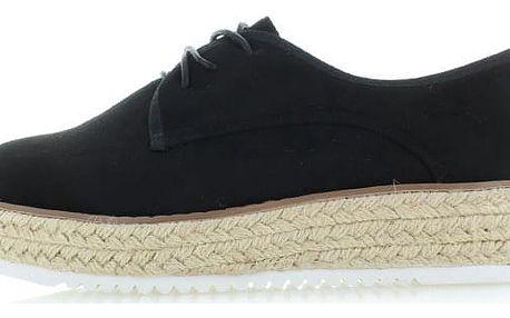 Černé platformové boty Front