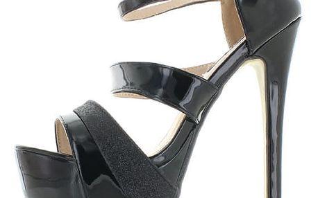 Černé sandály Kasandia