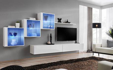 Obývací stěna SWITCH XX, bílá matná/bílý lesk