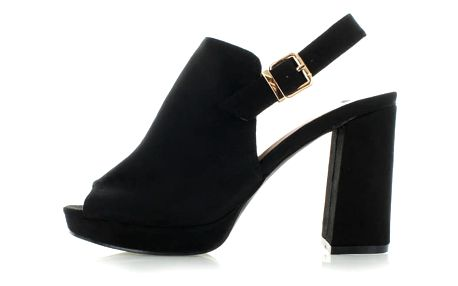 Černé sandály Evastato
