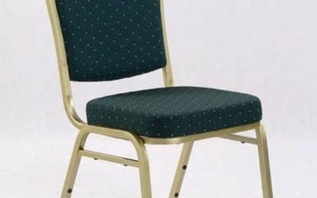 Kovová židle K66 zelená