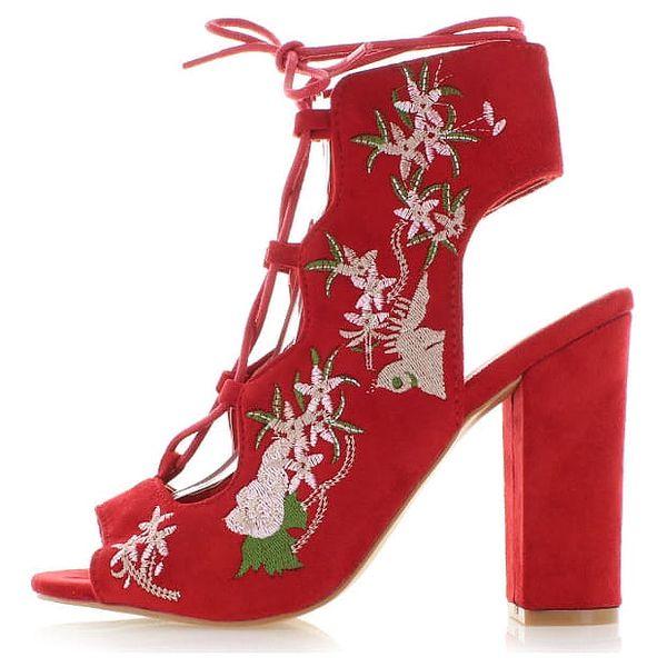 Červené sandály Aftel