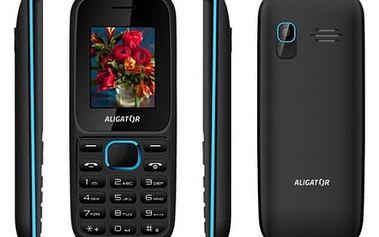Mobilní telefon Aligator D200 Dual Sim (AD200BB) černý/modrý