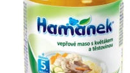 6x HAMÁNEK Vepřové nudličky s květákem a těstovinami (190 g) - maso-zeleninový příkrm
