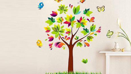 Nalepte.cz Pestrobarevný strom 50 x 70 cm