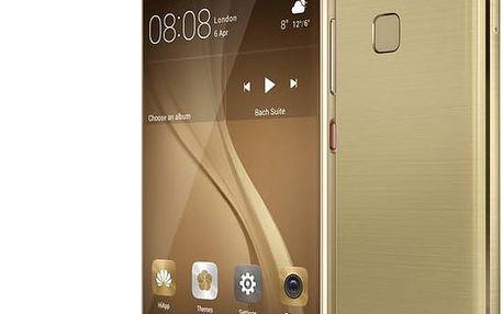 Huawei P9, Dual Sim, zlatá - SP-P9FDSGOM + Zdarma YENKEE YAC 2048BK USB Autonabíječka 4.8A, černá (v ceně 299,-) + Zdarma Kabel Celly USB typu C (v ceně 279,-) + Zdarma držák CELLY FLEX9, univerzální (v ceně 379,-)