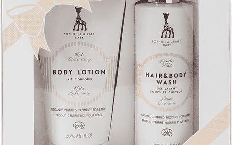 SOPHIE LA GIRAFE Dárková kazeta dětské tělové mléko (150 ml) a šampón (200 ml)
