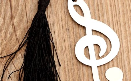 Záložka v podobě houslového klíče