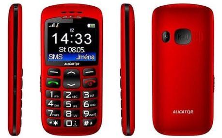 Aligator A670 Senior červený + stol.nab.