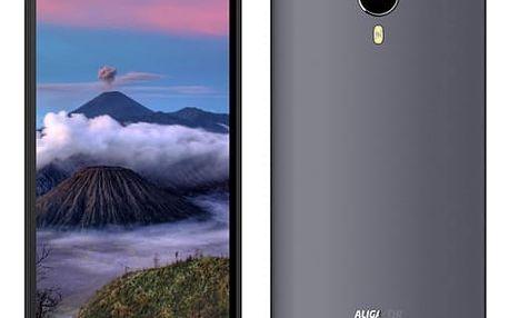 Mobilní telefon Aligator S5060 Dual SIM (AS5060GY) šedý