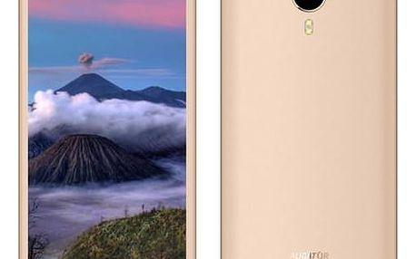 Mobilní telefon Aligator S5060 Dual SIM (AS5060GD) zlatý SIM s kreditem T-Mobile 200Kč Twist Online Internet (zdarma)Software F-Secure SAFE 6 měsíců pro 3 zařízení (zdarma)