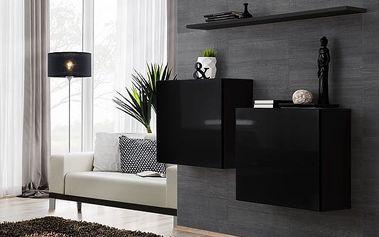 Set skříněk SWITCH SB I, černá matná/černý lesk