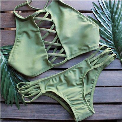 Plážové plavky se šněrováním - 4 barvy