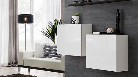 Set skříněk SWITCH SB I, bílá a černá matná/bílý a černý lesk