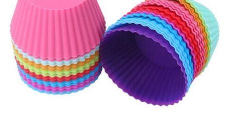 12 ks silikonových formiček na výrobu cupcaků