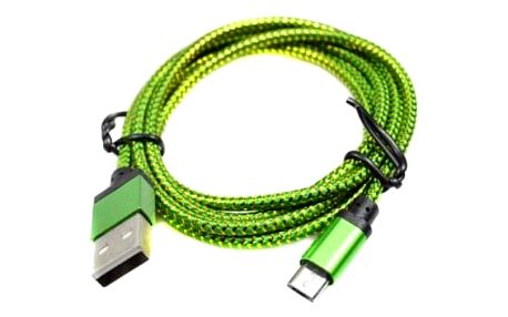 Textilní micro USB nabíjecí kabel - 4 délky
