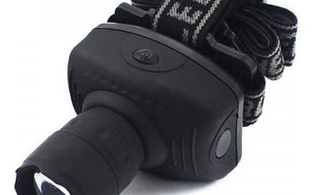 Kvalitní LED čelovka - 3 světelné módy