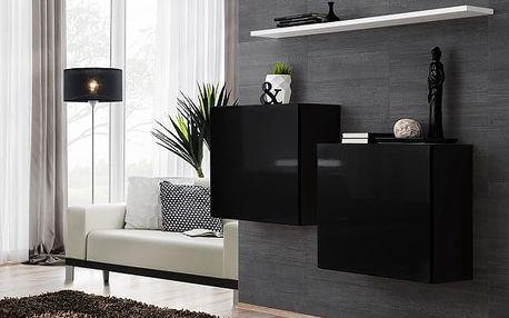 Set skříněk SWITCH SB I, černá a bílá matná/černý a bílý lesk