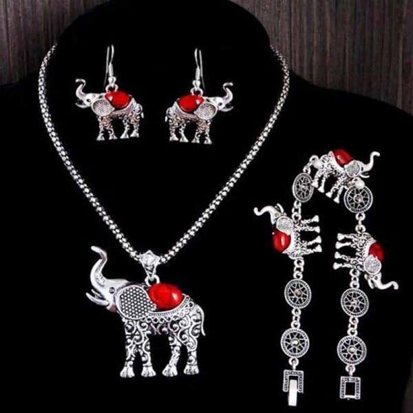 Sada vintage šperků s motivem indického slona