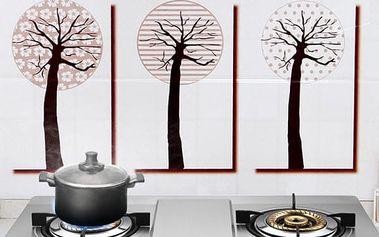 Omyvatelná samolepka 90 x 45 cm - Stromy
