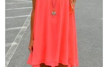 Dámské šaty plážové v pestrých barvách