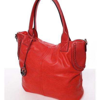 Módní dámská kabelka přes rameno červená - MARIA C Calantha červená