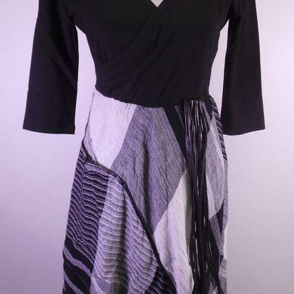 Dámské šaty Daka, černobílé