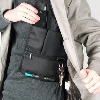 Pánská podpažní taška v černé barvě