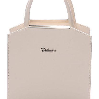 Dámská společenská kabelka béžová - Delami Nathalie béžová