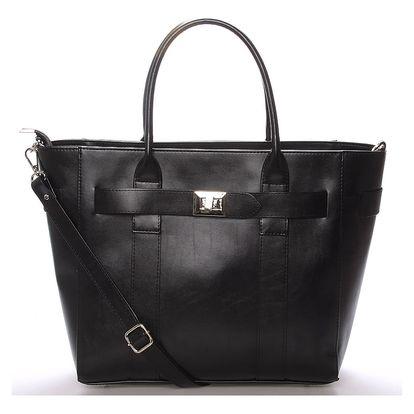 Exkluzivní dámská kabelka do ruky černá - Delami Olympia černá
