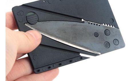Kapesní nožík ve tvaru platební karty - 4 barvy