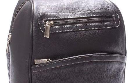 Dámský kožený batůžek černý - SendiDesign Anastasia černá